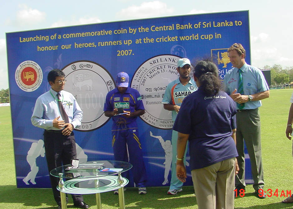Sri Lanka 2007 Cricket World Cup Runners Up Commemorative Coins